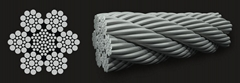 Hot-dip and Electro Galvanized Coated with PVC High Carbon Steel Wire Rope