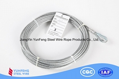 Excellent acid and alkali resistance Coated with Transparent PVC Steel Wire Rope
