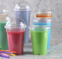 Disposable plastic PET cups for cold beverage