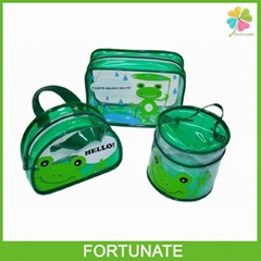 CYLINDRICAL PVC COSMETIC BAG PVC ZIPPER BAG  WITH HANDLE