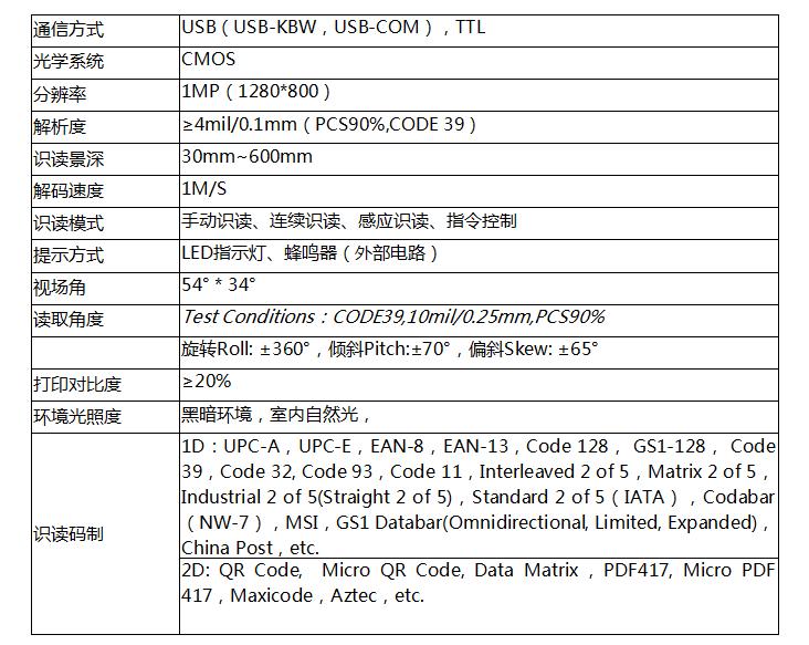 嵌入式二維掃描模組VM3180自助機掃碼儲物櫃掃描引擎手機屏幕碼 2