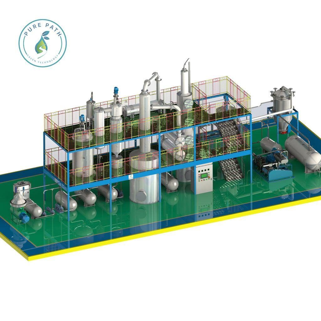 DCS/PLC Control Waste Oil Refinery equipments With ASTM Standard 4