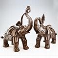 青銅器招財大象家居擺放風水吉祥