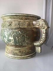 青铜厂商簋鎏银工艺河南文物修复复制定制