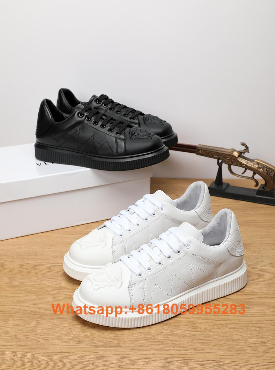 New Evening Party Versace Men Shoes Versace Sneakers Versace shoes Leather Shoes