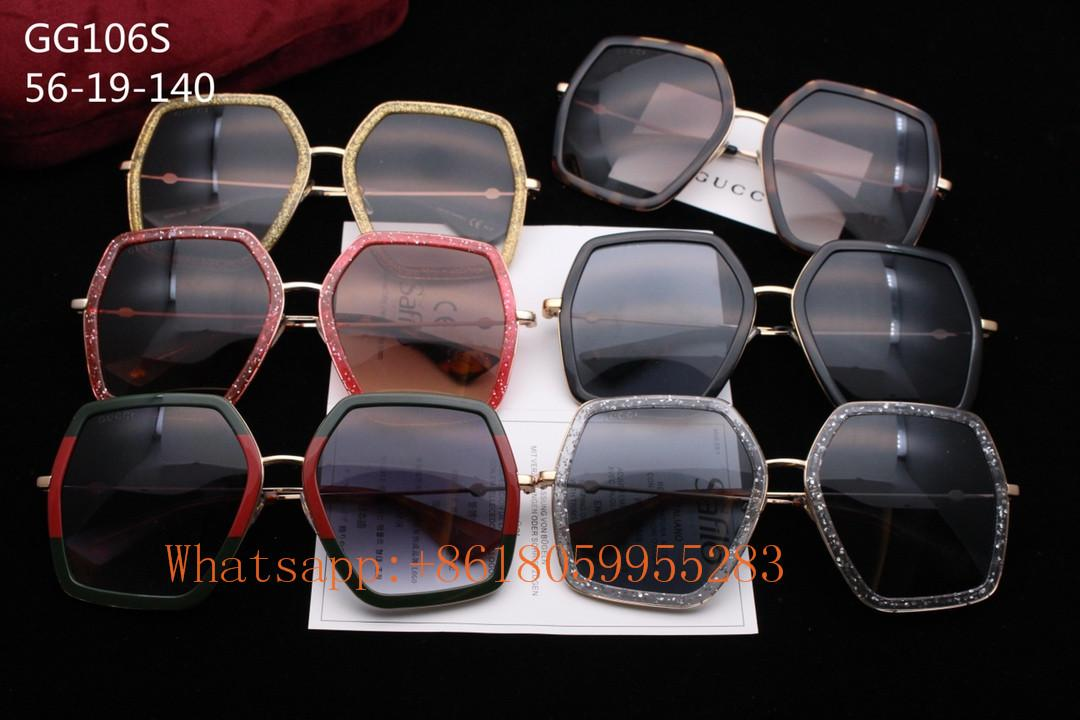 2019 1:1 Gucci sunglasses AAA women Gucci Eyewear bee Gucci Glasses original box