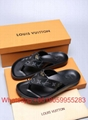 Louis VUITTON LOCK IT FLAT MULE Slippers LV Flip Flops Louis VUITTON sandals