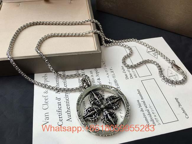 Wholesale Necklace jewelry Classic Cross Earring Sterling silver Chrome Hearts