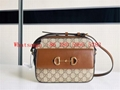 Autumn and winter women's Gucci horsebit retro style diagonal bag, shoulder bag,