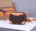 LV classic Deauville mini handbag, shoulder bag, cosmetic case shape bag