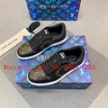 LV classic men's high-top casual sneakers, Lv Dior joint lace-up sneakers