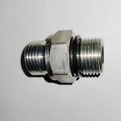 液压过渡接头直通英制外螺纹碳钢不锈钢可选