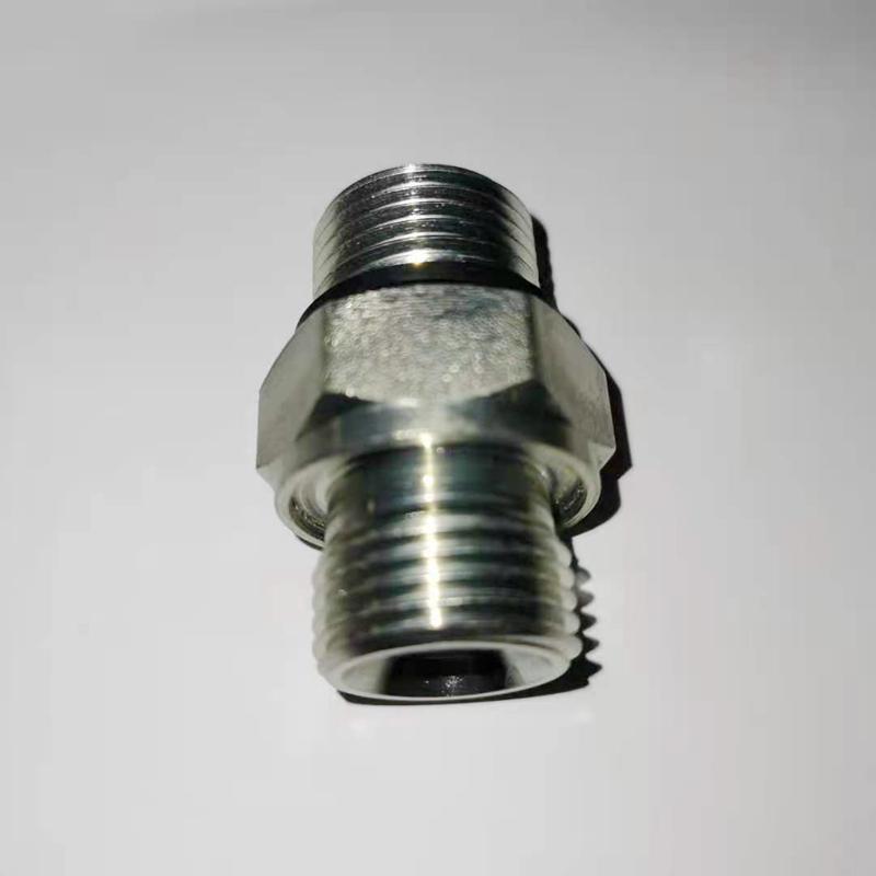 液压过渡接头直通英制外螺纹碳钢不锈钢可选 3