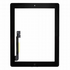 For IPad 3 Touch Screen with Home Button Assembly Black