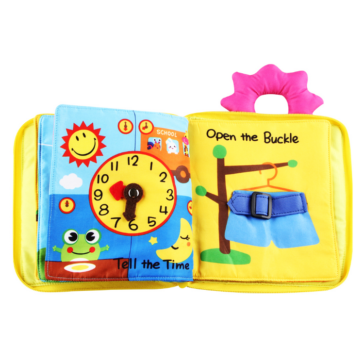 Baby Soft Cloth Book For Learning Animals For Infant Educational Toys 1