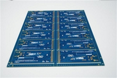 Quick Turn blue solder mask 4Layer PCB Chinese manufacturer