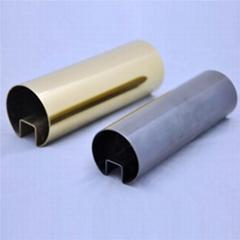 304/201/316L不锈钢管加工切割冲孔焊接表面处理22*22*1.2拉丝