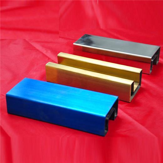 304/201不鏽鋼管彩色管鈦金青古銅10*20*0.8拉絲面 1
