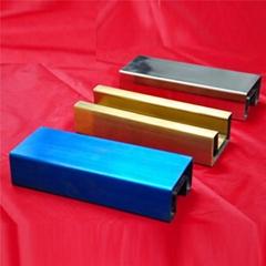 304/201不锈钢管彩色管钛金青古铜10*20*0.8拉丝面
