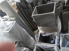 無錫304不鏽鋼管80*80*1.0方通拉絲