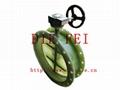 蜗轮玻璃钢蝶阀 3