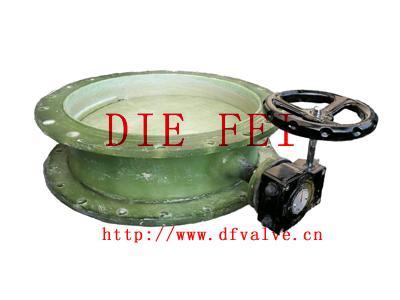 蜗轮玻璃钢蝶阀 4