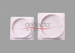 Plastic Backdraft Damper Draft Blocker Check Valve White PP