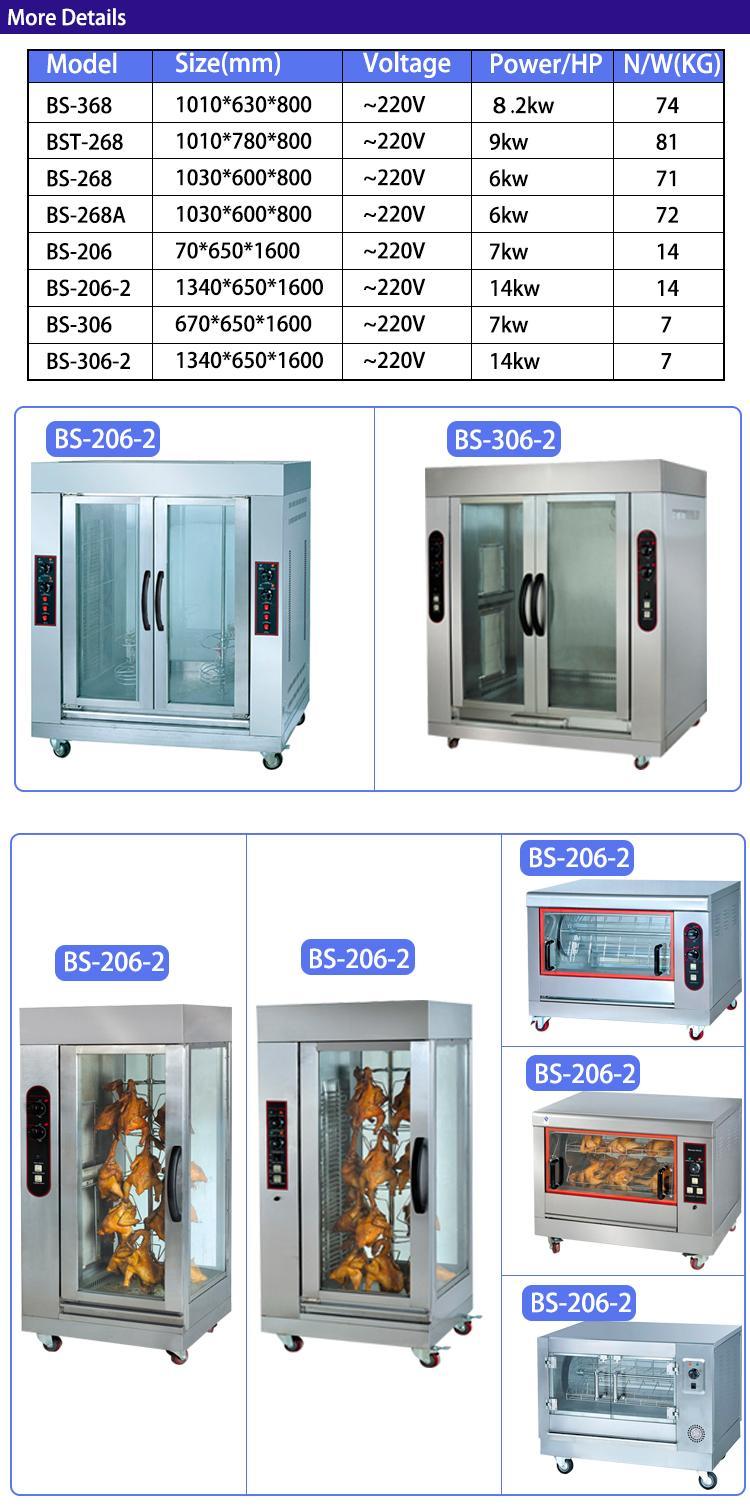 Best Sale Electric Vertical Rotary Rotisserie Restaurant Equipment 3