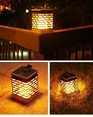 solar courtyard flame lamp