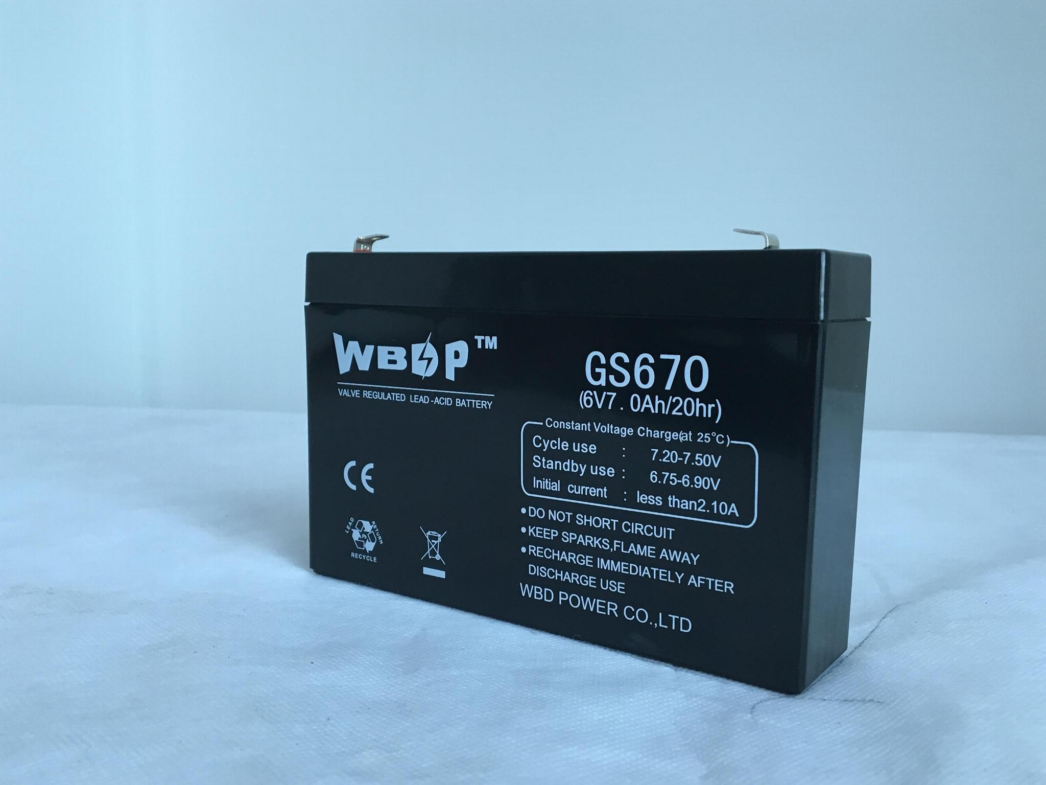 免維護鉛酸蓄電池6V7AH 2