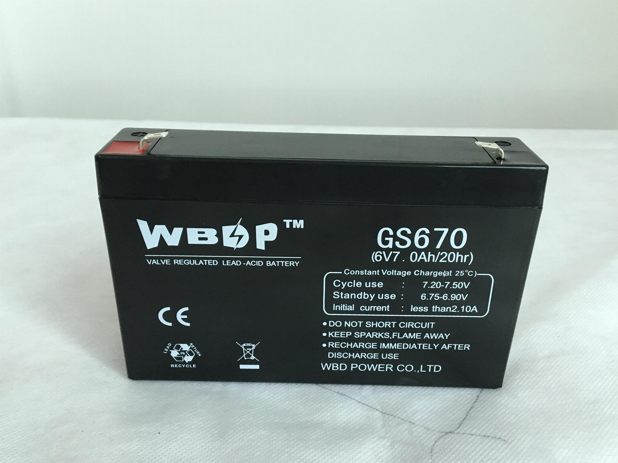 免維護鉛酸蓄電池6V7AH 3