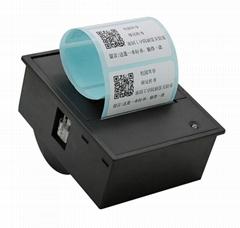 醫療儀器電子秤收銀機不干膠標籤打印機58MM嵌入式標籤熱敏打印機