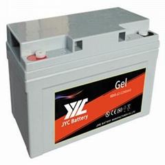 lead-acid Gel rechargeable AGM street light battery for solar system 12V65ah