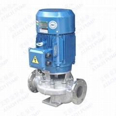 不鏽鋼熱水管道式離心泵