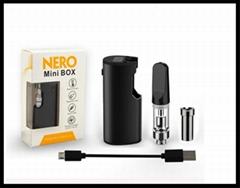 Glass cbd cartridge box mod preheating battery mod 650mah vape pen kit