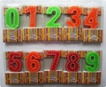 Beauty Stitches Printed Numerical Birthday Candles White Short Line Border Wax