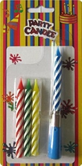 Multi Colored Singing Birthday Candle Paraffin Wax Material Non Toxic 3.14 Inch