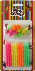 Friendly Smokeless Fluorescent Candles Warm Yellow Flame 12 Pieces Per Set