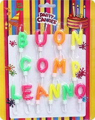 Customized Colored Birthday Alphabet Letter Birthday Candles With Seats