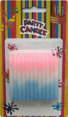 Paraffin Wax Spiral Birthday Candles Color Changing Non Toxic 2.36 Inch Height