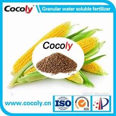 Molasses fermentation solubles added organic fertilizer