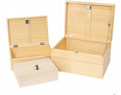 soild wood storage box