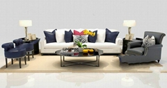 European-style fabric sofa combination living room simple European style