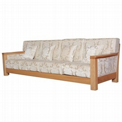 Solid wood sofa winter and summer dual-use wood economy