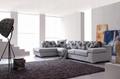 Simple modern fabric sofa small