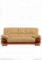 Nordic leather sofa double living room