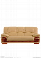 Nordic leather sofa doub
