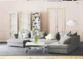 Simple modern new Chinese Nordic solid wood ash wood corner sofa 1