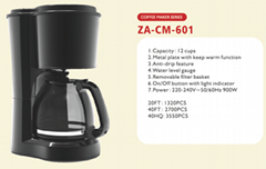 drip Coffee Maker   6 cups 8 cups  12