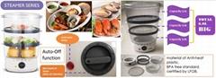 Food Steamer  BPA free  total 3 tiers capacity 6.0L